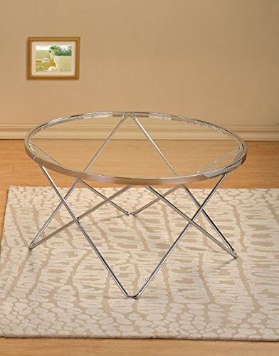 round chrome coffee table - 1