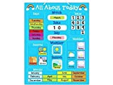 ''All About Today'' Weather & Calendar Magnetic Board - Blue