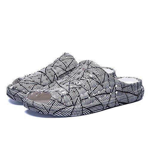 passeggio spiaggia viaggio e da Black flat pantofole da Geometry da Color shoes antiscivolo da uomo da White outdoor 41 uomo Pantofole Zebra sandali Jiuyue Scarpe EU Dimensione qTYwt6xPW