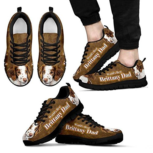 Dog Brittany Brand Men's 5 Casual Black 9 Sneakers Print Amazing qE7nAxwHn6