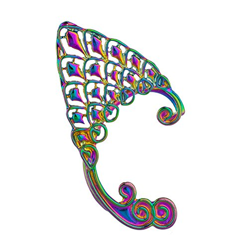 Lux Accessories Multicolored Mermaid Ears Sea Creature Inspired Ear Cuff SINGLE, NOT -