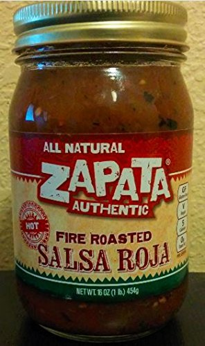 Zapata Fire Roasted Salsa Red Hot 16 OZ (Pack of 2)