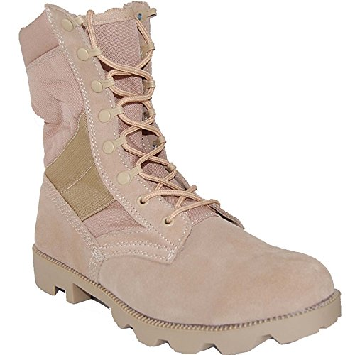 KRAZY SHOE ARTISTS Jungle Boot 8 Inch Leather Suede Desert Sand Beige Tactical Men's Combat Size 11