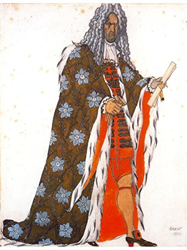 Costume Design for The Master of Ceremonies, from Sleeping Beauty by Leon Bakst -