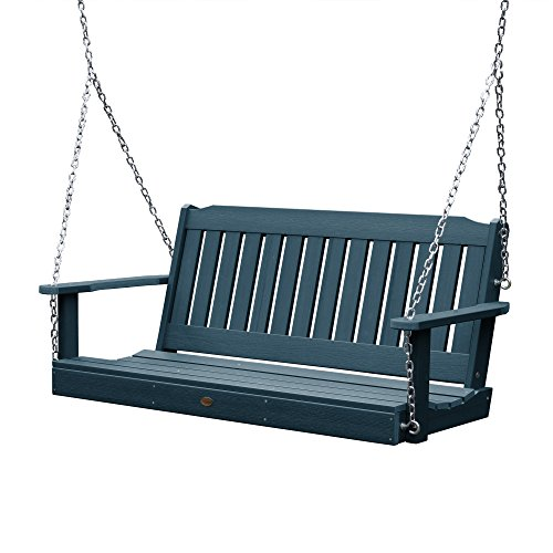 highwood AD-PORL1-NBE Lehigh Porch Swing, 5 Feet, Nantucket Blue
