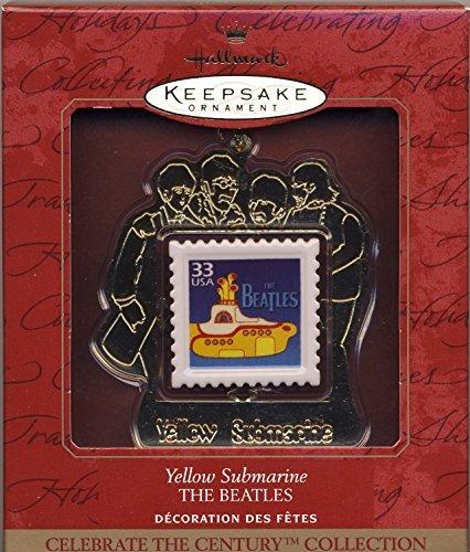 1999 HALLMARK KEEPSAKE BEATLES YELLOW SUBMARINE STAMP CHRISTMAS TREE ORNAMENT Beatles Yellow Submarine Ornament