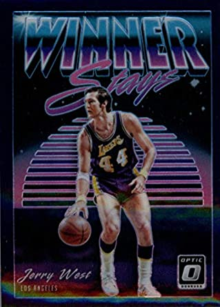 f0b9bded8b9 2018-19 Donruss Optic Winner Stays Purple  19 Jerry West Los Angeles Lakers  Basketball