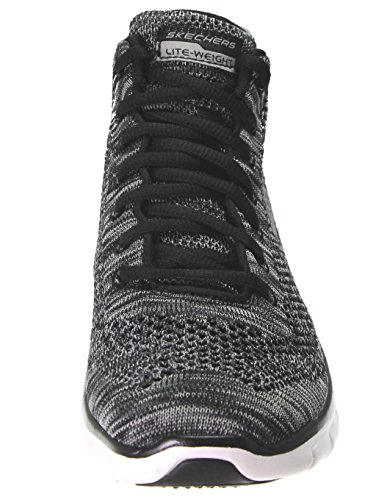 outlet best prices Skechers Sport Women's Burst Divergent Demi Boot Sneaker Black Knit/White looking for for sale buy cheap shop for cheap sale store rofwqYC