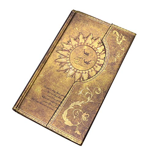 - 1 Pcs Mysterious Retro Notebooks Magic Notebook Diary European Notepad 192 Pages, Size 11.1 x 19.2 cm,Yellow 1 pcs,192 by 115 by 18mm