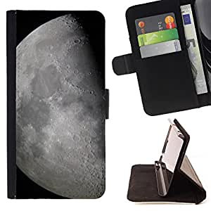 Devil Case- Style PU Leather Case Wallet Flip Stand Flap Closure Cover FOR Samsung Galaxy S4 Mini i9190 I9192- Moon Space