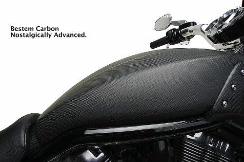 Bestem CBHD-VROD-SFR-F Black Carbon Fiber Matte Finish Side Fairings for Harley Davidson VRSCF V-Rod Muscle CBHD-VRSCF-SFR-F