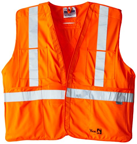 Viking FR Flame Resistant Reflective Vest, Orange, Large/X-Large