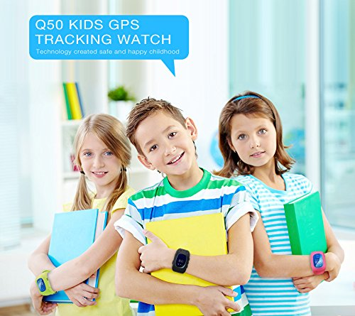 JUNEO Q50 GPS Tracker Smartwatch Anti Lost SOS Call WristWatch Children Finder Fitness Pedometer Wristwatch SOS Calling Location Remote Monitor (Blue) by TK-STAR (Image #3)