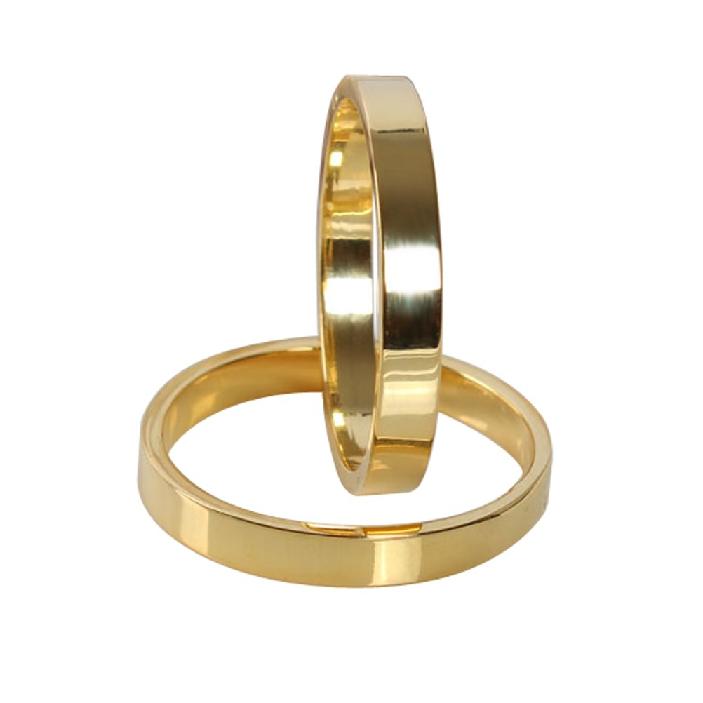 L'vow Gold Napkin Rings Home Wedding Holiday Parties Pack of 6