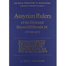 Assyrian Rulers 3Rd and 2Nd Millenium