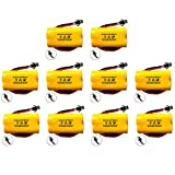 (10 Pack) Exit Sign Emergency Light NiCad Battery