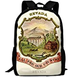 ZQBAAD Nevada State Coat Of Arms Nevada State Coat Of Arms Luxury Print Men And Women's Travel Knapsack