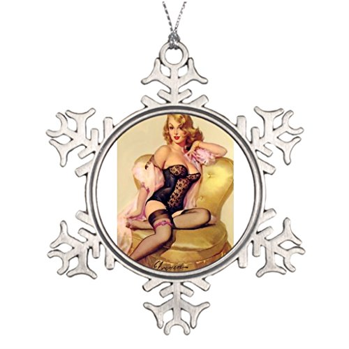 Tree Branch Decoration Vintage Pin Up Girl Xmas Tree Snowflake Ornaments by Xmas is Coming