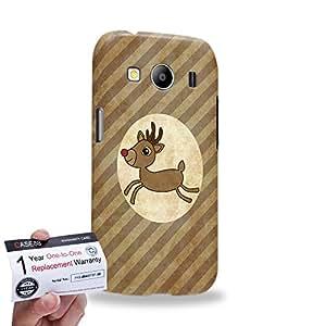 Case88 [Samsung Galaxy Ace 4 LTE G357] 3D impresa Carcasa/Funda dura para & Tarjeta de garantía - Art Navidad Classics Vintage Navidad Rudolph