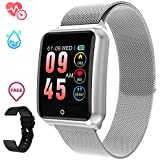 GOKOO Sports Smart Watch for Men Women with Heart Rate Blood Pressure Sleep Monitor IP67 Waterproof Activity Tracker Calorie Pedometer Counter Bluetooth Smartwatch Fitness Tracker