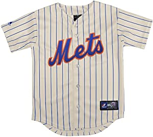 official photos d75ab 130c9 Amazon.com : MLB New York Mets Boy's Replica Jersey, Ivory ...