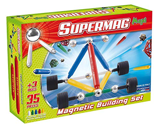 Supermag Maxi Wheels Children's Magnetic Construction Set, 35 Pieces from Supermag