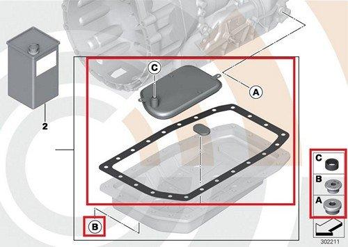 BMW Genuine Automatic Transmission Fluid Filter Kit E39 E46 E85 525i 530i 320i 323Ci 323i 325Ci 325i 330Ci 330i Z4 2.5i Z4 3.0i