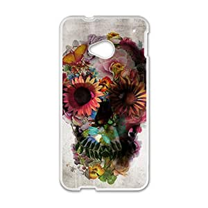 DAZHAHUI ali gulec skull Phone Case for HTC One M7