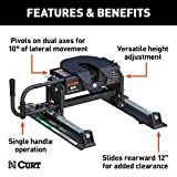 CURT 16516 E16 5th Wheel Slider Hitch for Short Bed Trucks, 16,000 lbs