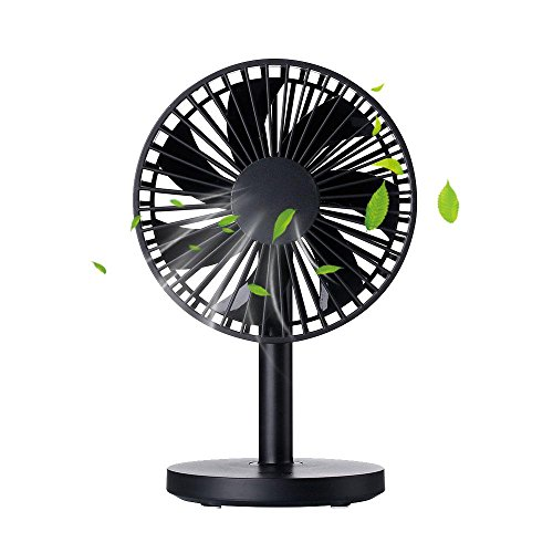 Mini USB Table Fan, niceEshop(TM) 3 Adjustable Speed Modes Low-Noise Charging Desktop Fan for Home Travel and Office