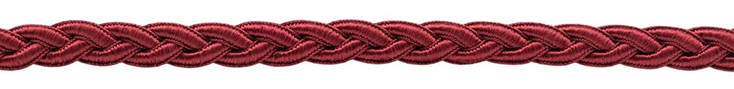 Red Wine E10 15 Ft // 4.6M D/ÉCOPRO 5 Yard Value Pack|5//8 inch Braided Decorative Soutache Burgundy Gimp Braid|Style# 0050SGB Color