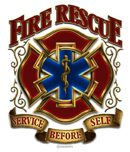 - Firefighter Decals, Show Your Pride with our Fire Rescue Gold Shield Patriotic Decals, Perfect for Your Kitchen, Car, Wall or Bike, Gifts for Firefighters (12IN)