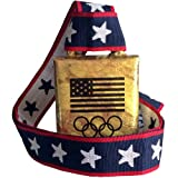 """COWBELL: Cheering Bell with Olympic Rings real cowbell from Norway, 4"""" high"""
