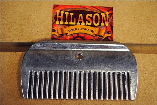 Aluminium Hilason Horse Tack Grooming Mane And Tail Comb
