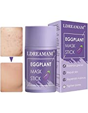 Purifying Clay Stick,Eggplant Stick,Cleansing Mask Stick,Face Moisturizes Oil Control,Anti-Acne,Blackhead Remover,Deep clean skin