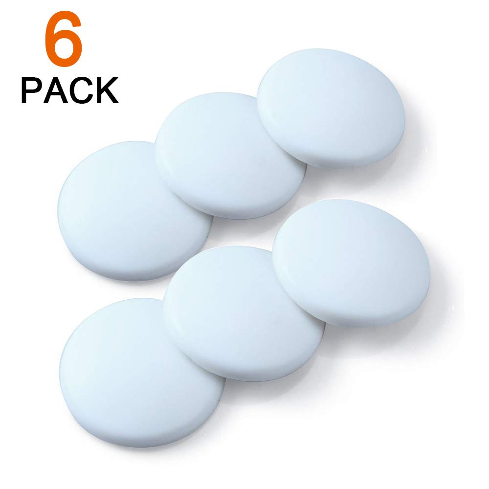 6 Pcs Door Stop Wall White Protector CoWalkers Silicon Wall Protectors Self Adhesive Door Stop Rubber Support Pads,Door Handle Bumper Guard Stopper Rubber Stop White