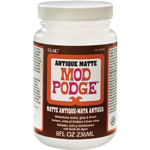Mod Podge Waterbase Sealer, Glue and Finish (8-Ounce), CS12948 Antique Matte, 1 Pack,]()
