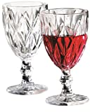 Circleware 44382 Treasure White-Red Glassware Products, Clear