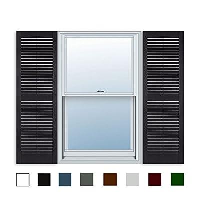 Standard Louver Exterior Vinyl Window Shutters