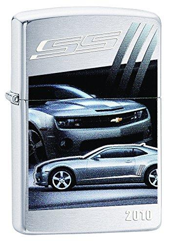 (Zippo Lighter Chevy Camaro SS 2010 Brushed Chrome)