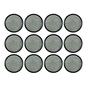 Replacement Activated Charcoal Water Filters for Mr. Coffee Machines (12-Pack) | Easy to Replace & Remove | Purifies Water From Chlorine, Calcium, Odors, Dirt & Others Impurities