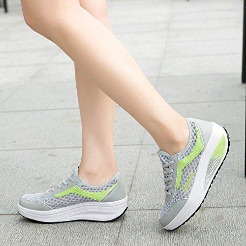 Green 2508 XMeden mujer running para Zapatillas de xAPwr4PqYX