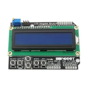 uxcell Keypad Shield 1602 LCD Display Module Blue for MEGA 2560 UNO R3 A005