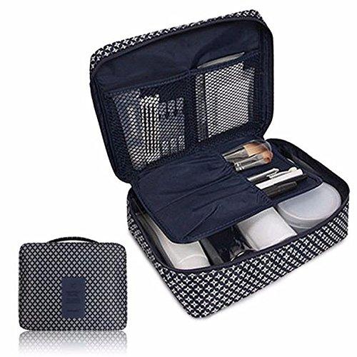 Storage Box,Clearance ! AmyDong Makeup Storage Box Travel Cosmetic Makeup Toiletry Case Bag Wash Organizer Storage Pouch Handbag (Deep Blue)
