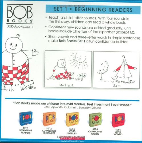 Amazon.com: Bob Books, Set 1: Beginning Readers (8580001039848 ...