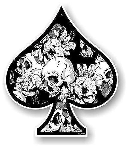 Ace Of Spades Diseño con B&w Rosas y Calaveras Estilo Tatuaje ...
