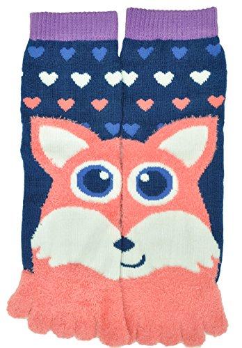Flirt Girls Animal Soft Tube Finger Toe Socks, Fox