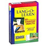 Stages Learning Materials Lang-O-Learn ESL Everyday Objects Vocabulary Photo Cards Flashcards for English, Spanish, French, German, Italian, Chinese