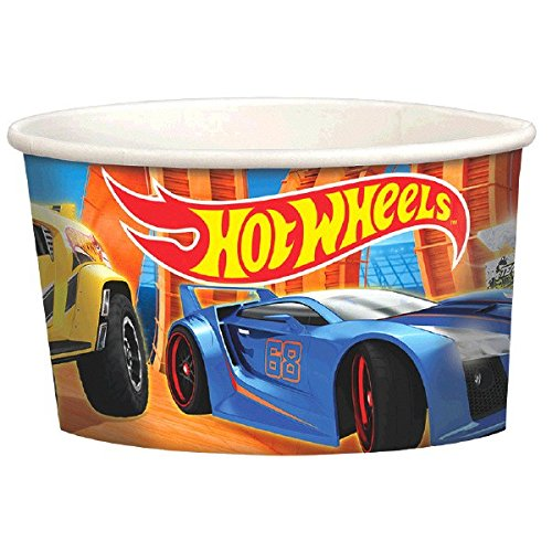 Amscan Fast Riding Hot Wheels Wild Racer Birthday Party Treat Cups Favors, Multicolor, 9.5 oz