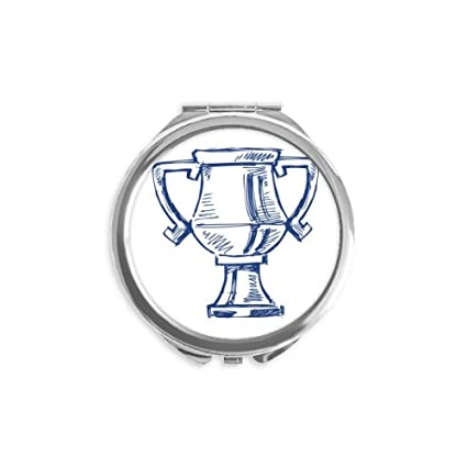 DIYthinker Campeonato de fútbol trofeo azul espejo redondo ...